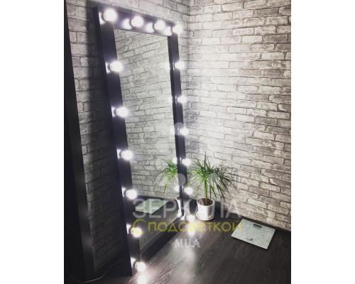 Гримерное зеркало с подсветкой 175х80 Венге