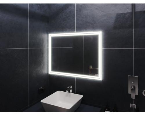 Зеркало в ванну комнату с подсветкой Бологна